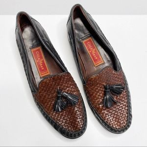 Cole Haan Country Woven Tassel Leather Loafers 8